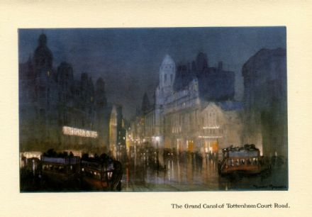 1926 Tottenham Court Road LONDON Vintage Print COURT CINEMA Horse Shoe Hotel BUS by Donald Maxwell